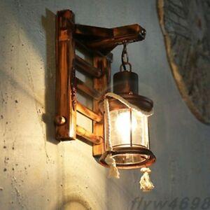 Loft  Retro Home Bamboo Wall lamp Stair Antique Manual Bamboo Weaving Wall Light