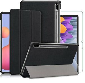 """For Samsung Galaxy Tab S7 Smart Case Stand Cover & Glass Screen Protector 11.0"""""""