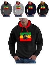 Cotton Hooded Rasta Hoodies & Sweats for Men Graphic