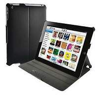 AMZER PU Leather Portfolio Folding Cover Case with Stand For Apple iPad 2 3 4