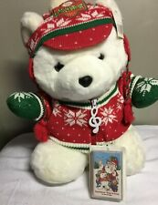 1992 Dayton Hudson Santa Bear w/ Sing Along Music Tape? Stuffed Plush with tags