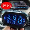 Car Auto LCD Digital Clock Thermometer Indoor Outdoor Temperature Voltage Meter
