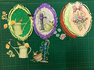 Carnation Craft die cuts x 5, and 5 oval shapes( Special ones )
