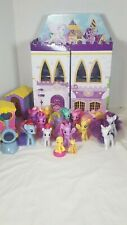 HUGE MY LITTLE PONY LOT OF 14 PONIES  TRAIN CARRIAGES Storage Cardboard Castle