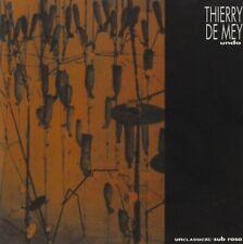 Thierry DE MEY Undo CD SUB ROSA Modern Belgian Composition Dessy Fafchamps