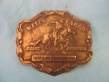 Wells Fargo Guard Services Brass Belt Buckle-TIFFANY- LONDON ENGLAND