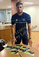 Calciatore Mattia Del Favero Sport Foto Autografo Pescara Calcio Soccer Signed