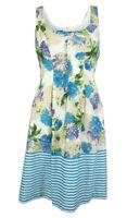 Nine West Women's Floral Stripe Pleated Dress