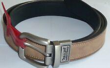 Levi's Men's Leather Top Belt  Big & Tall Reversible Brown/Black Size 52