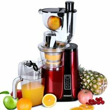 Slow Juicer Red Masticating Juicer Machine 500W Cold Press Fruit Extractor