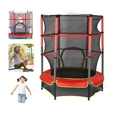 Kinder Trampolin Fitness Gartentrampolin Rundtrampolin Ø146cm inkl. Sicherheits