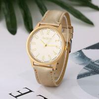 GAIETY Fashionable Women Wristwatch Round Dial Leather Strap Analog Quartz Watch