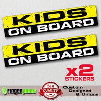 KIDS ON BOARD funny sticker decal child safety bumper window warning sign JDM VW