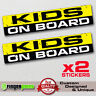 KIDS ON BOARD funny sticker decal child safety bumper window warning sign JDM VW