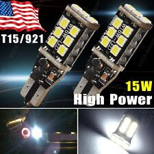 2X Error Free T15/T10 High Power 15W LED Backup Reverse High Stop Light 921 912