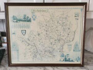 Vintage Print Of Hertfordshire In Frame