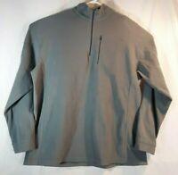 LL Bean Fleece Sweatshirt Jacket Pullover Men's XXL-Tall 1/4 Zip Gray