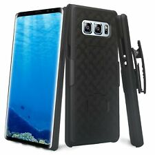 Samsung Galaxy Note 8 Slim Protective Case w Swivel Belt Clip Holster Black New