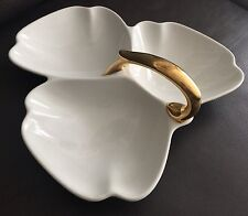 Rare Art Deco Period Heavy & Robust Gold Gilded Carlton Ware Dish (1920s)