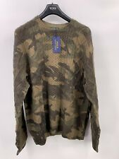 Polo Ralph Lauren Wool Knitted Sweater In Camouflage Patern Size XL NWT