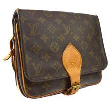 LOUIS VUITTON CARTOUCHIERE MM CROSS BODY SHOULDER BAG MONOGRAM AUTHENTIC A43792j
