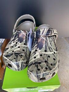 Crocs Classic Realtree Max-4 Clogs Camo Khaki MENS 12 Womens 14  NWT No Box