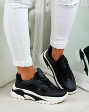 New Womens Chunky Lace Up Trainers Running Sports Comfy Ladies Shoes Sizes 3-8