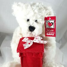 Ganz Say I Do Teddy bear white plush stuffed animal beanie felt box proposal