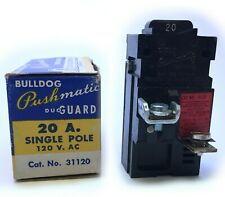 Pushmatic 20 Amp Circuit Breaker Single Pole 31120 20A 1P 120/240 Vac Bulldog