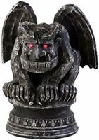 "Gargoyle 12"" Figurine with Red LED Eyes Battery Op New Halloween Gothic Decor"