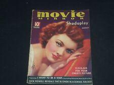 1935 AUGUST MOVIE MIRROR MAGAZINE - MYRNA LOY COVER - SP 4458