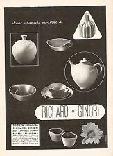 W9557 RICHARD-GINORI - Alcune ceramiche - Pubblicità del 1938 - Old advertising