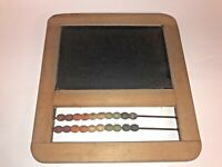 Vintage Child's Toy Chalkboard w/ Abacus & Colored Beads See pics, Nice!