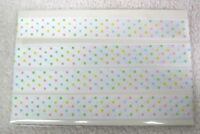 "2 Yards Pastel Color Morex Dots Double Face Satin Ribbon 5/8"" Width"