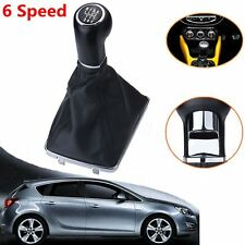 6 Speed Gear Stick Shift Knob Gaiter Boot For Vauxhall Opel Astra Corsa 05-10