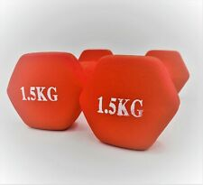 ** DUMBBELL HAND WEIGHTS 1.5kg * HOME GYM FITNESS TRAINING * 1.5KG PAIRS **