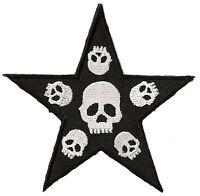 Ecusson patche Death Punk Star thermocollant patch brodé