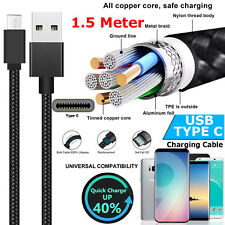 1m 1.5m 3m Strong Heavy Duty USB C 3.1 Type-c Data Sync Charger Charging Cable Gift