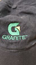 Granite Construction Co Safety Make It Personal black cotton cap green gold logo