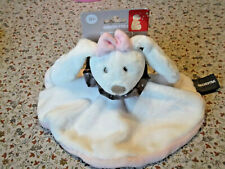C/ DOUDOU ORCHESTRA LAPIN ROSE BLANC PLAT ROND COLLERETTE POIS NOEUD 30CM NEUF