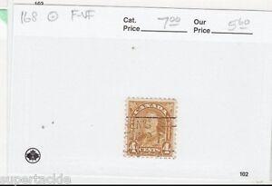 1930 Canada #168 Θ used F-VF Arch/Leaf KGV 4 cent postage stamp. slogan cancel