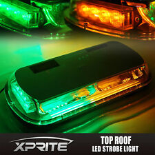 Green Amber 44 LED Roof Top Emergency Hazard Warning Flash Strobe Light 44W