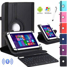 """HOT For 7"""" 7.9"""" Tablet Bluetooth Keyboard +360 Rotate Leather Stand Case Cover"""