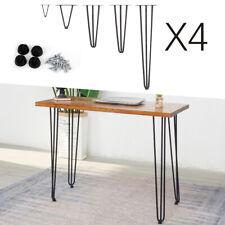 4 x Modern Metal Hairpin Legs Furniture Coffee Table Desk Bench Industrial Leg