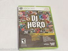 DJ Hero game case insert only Xbox 360 Brand NEW factory sealed video game