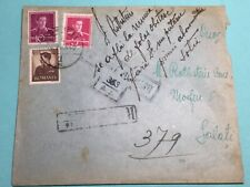 Holocaust 1942 Romanian Cen. Mail Sent By Newspaper Employee To Jew In Bucharest