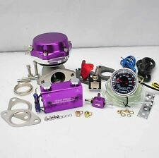 """PURPLE WASTEGATE 8+6LB SPRING +DUO SWITCH BOOST CONTROLLER +2"""" LED BOOST GAUGE"""