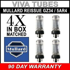 Brand New Matched Quad (4) Mullard Reissue GZ34 / 5AR4 Vacuum Tubes