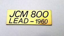 JCM 800 LEAD 1960 Marshall plastic logo badge gold color 85 mm= 3 3/8'' inch
