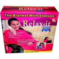 Deluxe Kinder-Kuscheldecke mit Ärmeln | Fleece Decke Wolldecke, Kinderdecke pink